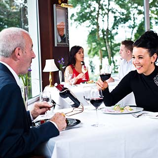 Dinner for Two with Wine at Harveys Point Hotel