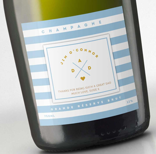 Fathers Day Champagne - Blue Stripes image