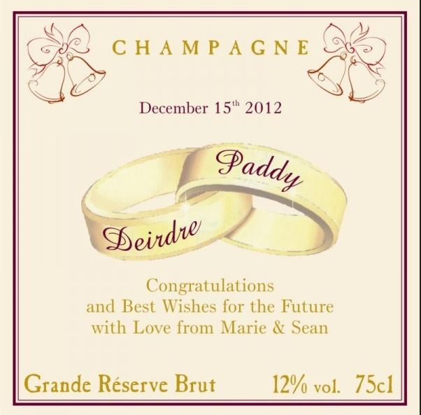 Personalised Wedding Champagne image