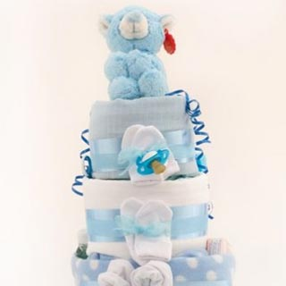 3 Tier Standard Nappy Cake image