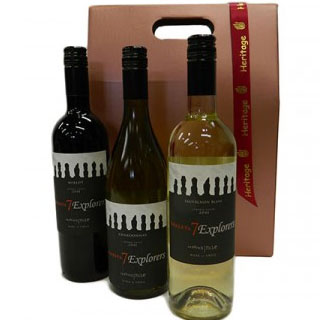 Three Bottle 7 Explorers Wine Hamper image