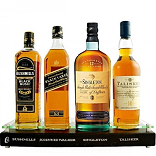Display of 4 Whiskies Hamper image