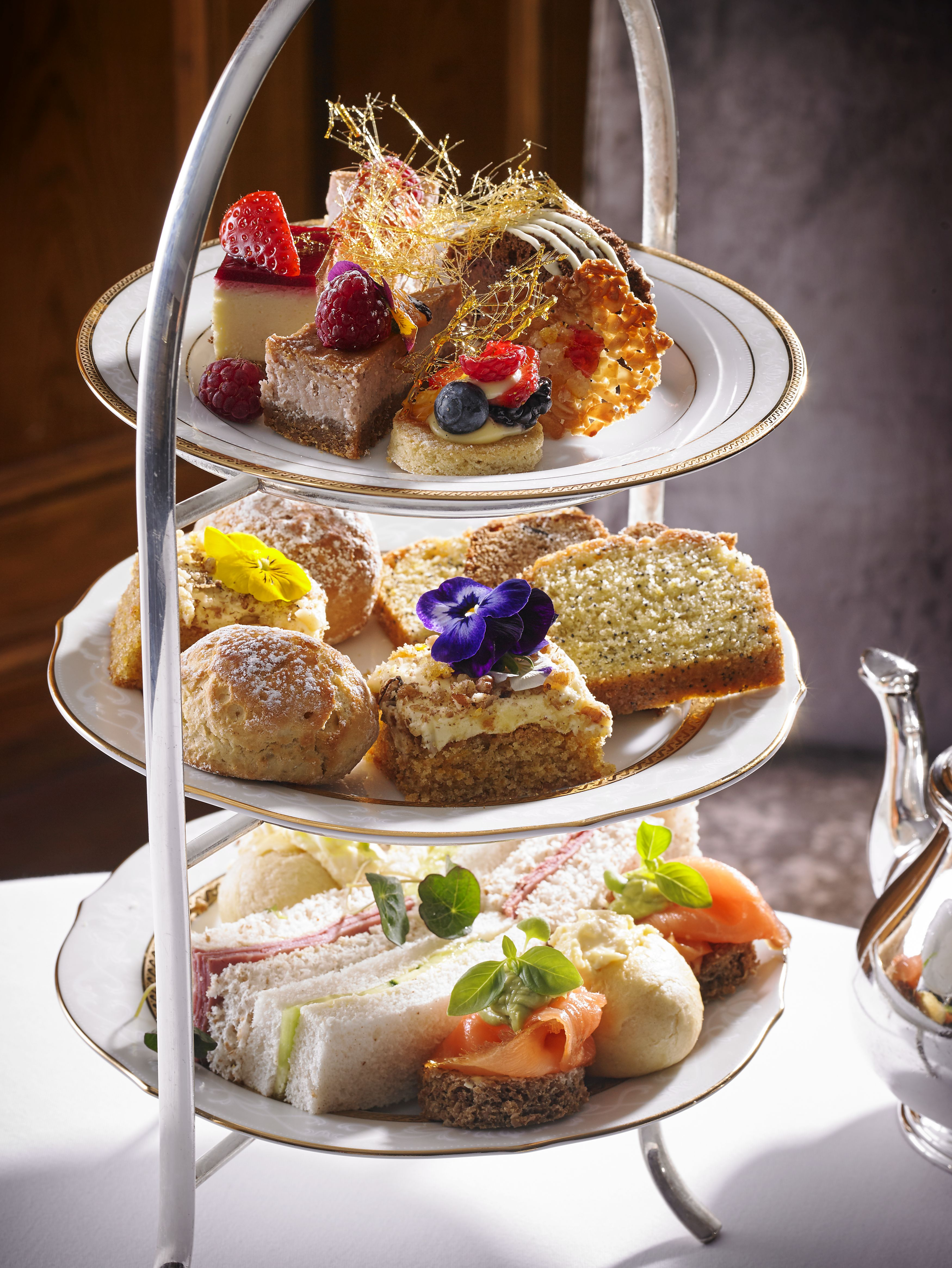 Champagne Afternoon Tea for 2 at Hayfield Manor image