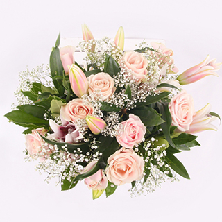 Rose and Lily Pink Bouquet image