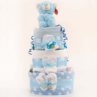 3 Tier Nappy Cake - Baby Boy image