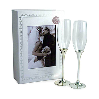 Wedding Flute Pair & Memory Box image