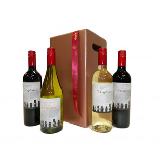7 Explorers Four Bottle Wine Hamper image
