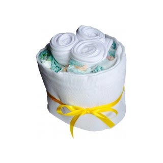 Baby Bib Natural Nappy Cake image