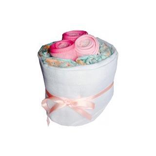 Baby Bib Pink Nappy Cake image