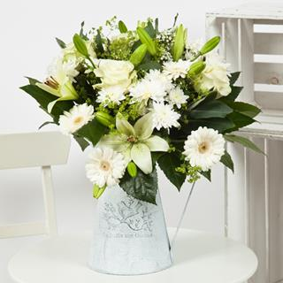 All White Flower Bouquet image