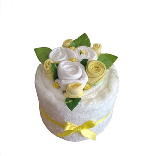 Blooming Towel Cake Lemon Baby Gift image