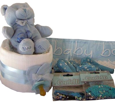 Baby Boy Shower Gift Basket image