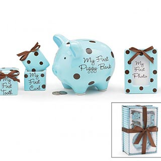 Baby Boy Polka Dot Gift Set image
