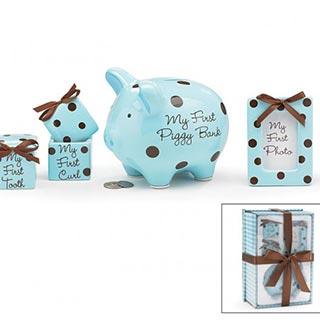 Baby Boy Polka Dot Gift Set