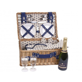 Blue Star Picnic Basket - 4 Person image