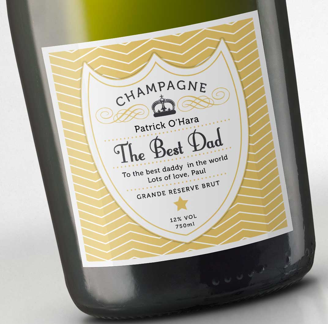 Fathers Day Champagne - Crest Dad image