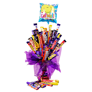 Cadbury Chocolate Get Well Soon Bouquet image