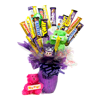 Cadburys Happy Birthday Bouquet and Teddy image