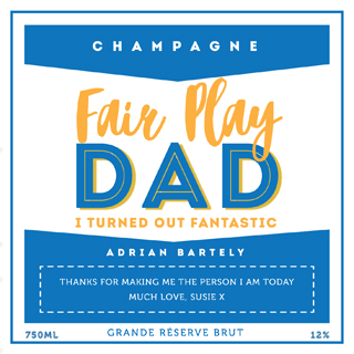 Fathers Day Champagne - Fairplay Dad image