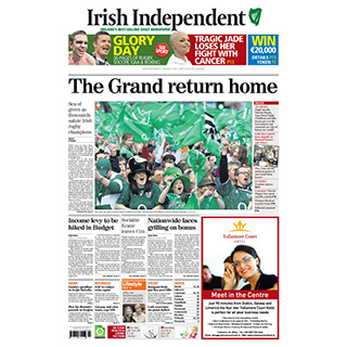 Framed Front Page - Grand Slam 2009 image