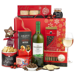 Christmas White Wine Hamper image