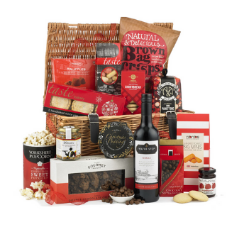 Red Knitted Christmas Hamper image