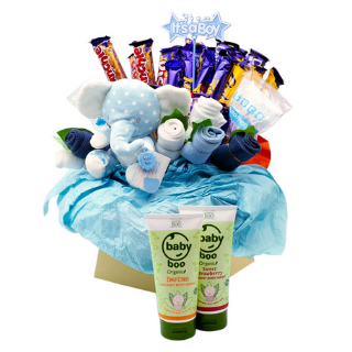 Baby Boy Boo Chocolate Bouquet image