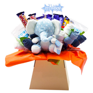 Baby Boy Chocolate Bouquet image