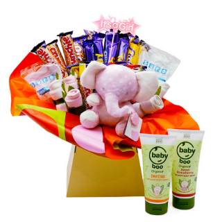Baby Girl Boo Chocolate Bouquet image