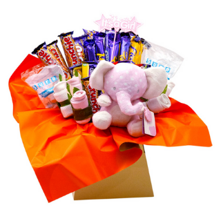 Baby Girl Chocolate Bouquet image