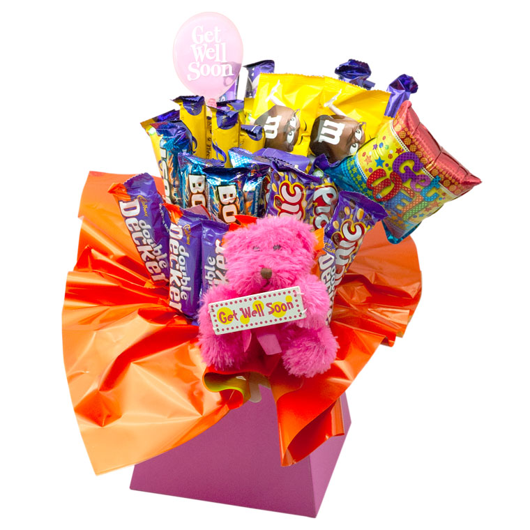 Get Well Soon Chocolate Bouquet image