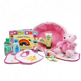 Baby Firsts Hamper (Girl) image