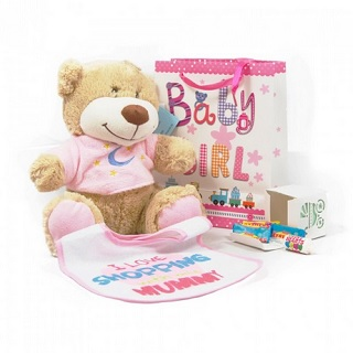 Baby gift ideas personalised gifts in ireland thank heavens baby gift hamper girl image negle Image collections