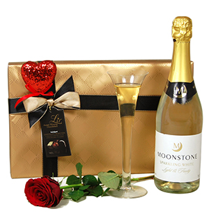 Moonstone Sparkling Wine and Chocolate Hamper image