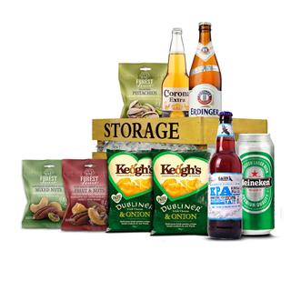 Beer & Snack Wooden Crate image