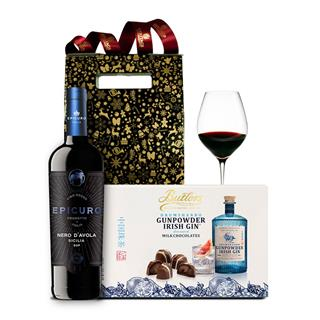 Wine & Chocolates Gift Christmas Hamper image