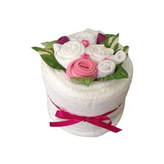 Blooming Towel Cake - Pink image