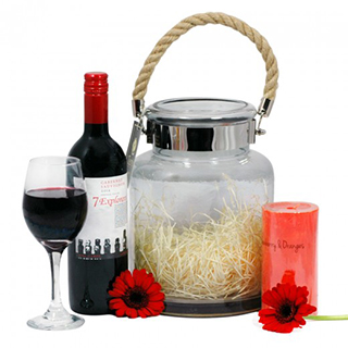 Light the Way Wine Hamper