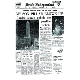 Framed Front Page - Nelsons Pillar image