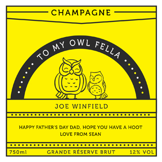 Fathers Day Champagne - Owl Fella image
