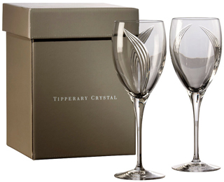 Tipperary Crystal - Pearl Set 4 Wine Glasses