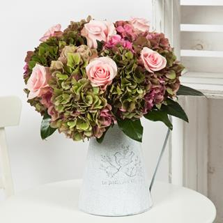 Pink Hydrangea & Roses Bouquet image