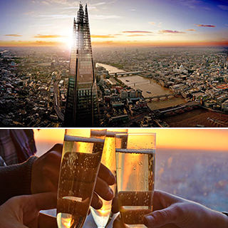 The View from The Shard with Champagne for Two image