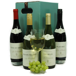 Charlet Quartet 4 Bottle Wine Hamper