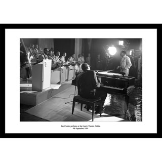 Ray Charles, Dublin 1964 - Framed Press Photo image
