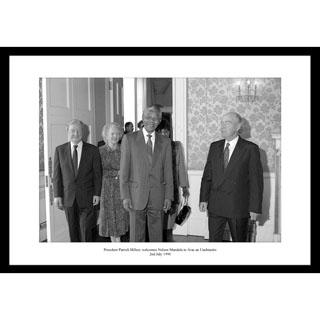 Nelson Mandela, Ireland 1990 - Framed Press Photo