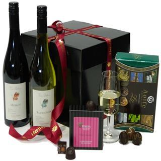 Wine & Chocolate Christmas Hamper image