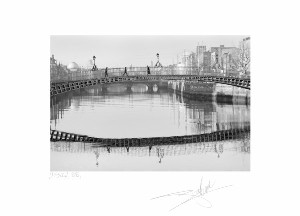 "HaPenny Bridge, Dublin 88 - 9.5""x12"" image"