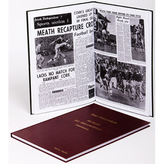 All Ireland Football Finals Newspaper Book image