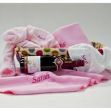 Personalised Baby Hamper with Bubbly – Baby Girl image